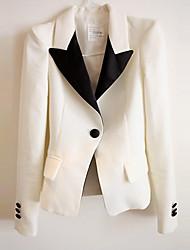 PINKLADY Elegant Shoulder Pad Sheath Cotton Suit Blazer