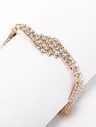 Women's Cuff Bracelet 18K Gold Plated Crystal
