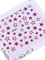 5PCS 3D Star Nail Art Stickers colorés