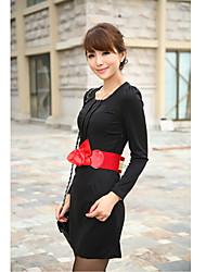 Women's Pleated Bodycon Dress with Belt