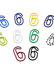 """6"" Shape Metal Paper Clips (10PCS Random Color)"