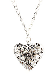 hollow Hearts Silver Necklace