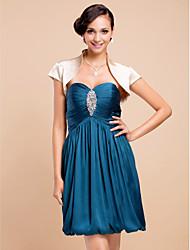 Wedding / Party/Evening Stretch Satin Coats/Jackets Short Sleeve Wedding  Wraps