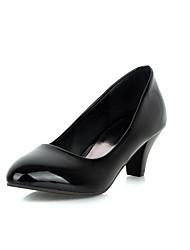 Chaussures Femme - Habillé - Noir / Blanc - Talon Aiguille - Talons - Talons - Cuir Verni