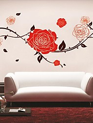 Rote Blume Wandaufkleber