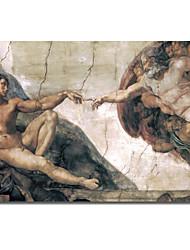 Канва искусства Урожай Микеланджело, создание человека Vintage Collection Apple, с растянутыми кадра