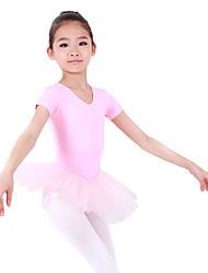 Kids' Dancewear Tutu Ballet Lovely Short Sleeve Spandex Dress Kids Dance Costumes