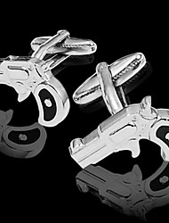 Gift Groomsman Gun Shaped Cufflinks