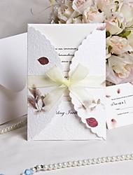 """""""Дыхание осени"""" Свадебное приглашение и ответ карты - 50 комплектов"""