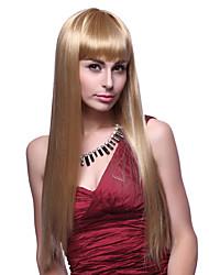 Capless Haut Grade qualité synthétique longue ligne droite Golden Blonde Hair Wigs