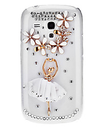Bling Bling Dancer Design Hard Case with Rhinestone for Samsung Galaxy S3 Mini I8190