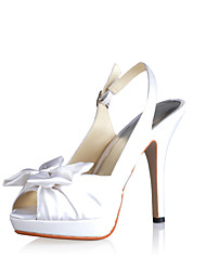 Fabulous Satin Stiletto Heel Pumps with Bowknot Wedding Shoes(More Colors)