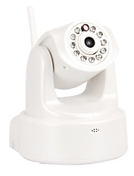 1.0MP Security IP Network Camera with Wi-Fi,IR-Cut,11-LED,RJ45,Audio-White, Support SD Card,P2P