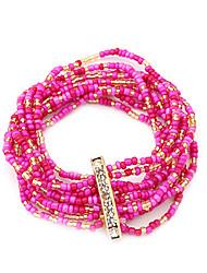 Multilayer Bead Elastische armband (assorti kleur)