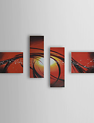 Hand Painted Oil Painting Abstract Set of 4 1307-AB0519