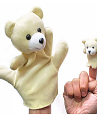 2PCS Parent-child Hand&Finger Puppets Beige Bears