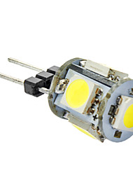 5x5050SMD 70-80lm ampoule G4 1W Blanc Naturel LED de maïs (12V)