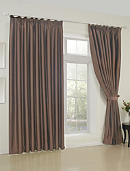 (One Panel) Solid Brown Classic Room Darkening Curtain