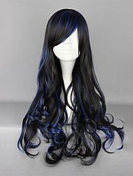 Lolita Wigs Gothic Lolita Lolita Curly / Long Black / Blue Lolita Wig 70 CM Cosplay Wigs Solid Wig For Women