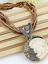 Women's Pendant Necklaces Vintage Necklaces Alloy Bohemia Ivory Jewelry Daily