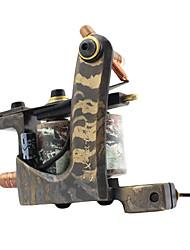 Latão Wire-corte de bobinas duplas 10 Wraps Tattoo Machine para Shader