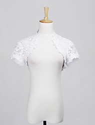 Wedding  Wraps Shrugs Short Sleeve Lace White Wedding / Party/Evening / Casual Capped Open Front