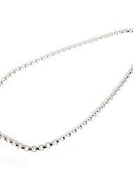 boîte à bijoux de mode fermoir en argent collier mâle