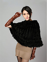 Fur Wraps / Hoods & Ponchos Ponchos Sleeveless Feather/Fur Black / Brown Party/Evening / Casual Pullover