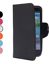 Litchi Pattern PU Full Body Case with Card Slot and Magnetic Snap for Samsung Galaxy S3 I9300(Assorted Colors)