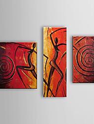 pintado a mano las personas pintura al óleo abstractas que bailan mujeres desnudas con juego marco estirada de 3 1307-pe0299