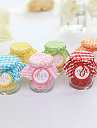 12 Piece/Set Favor Holder - Cylinder Glass Candy Jars and Bottles Non-personalised