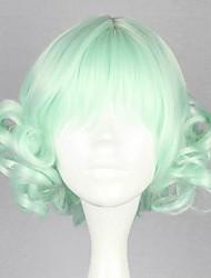 Pelucas Lolita Amaloli Verde Lolita Peluca de Lolita  32 CM Pelucas de Cosplay Un Color Pelucas Para