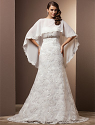 Lanting Trumpet/Mermaid Plus Sizes Wedding Dress - Ivory Court Train Sweetheart Lace/Chiffon