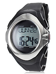 Unisex Calorie Counter Heart Rate Monitor Style Silicone Digital Automatic Wrist Watch (Black) Cool Watch Unique Watch