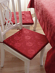 European Style Wine Red Blümchenmuster Polyester Charipad
