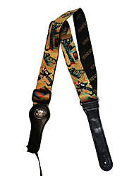 Soldier - (Absract Cat) Oxhide Strap for Guitar/Bass