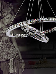 Lámpara Colgante LED de Cristal Estilo Lujoso Moderno