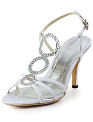 Women's Wedding Shoes Slingback/T-Strap Sandals Wedding Blue/Red/Ivory/White