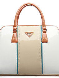 OPPO Women's Candy Contrast Color Leather Tote