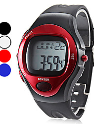 Unisex Calorie Counter Heart Rate Monitor Style Rubber Digital Automatic Wrist Watch (Assorted Colors)