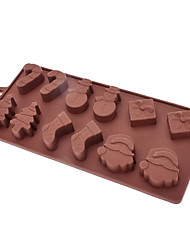 Christmas Shaped Sugarcraft Silicone Mold for Candy/Cookie/Jelly/Chocolate