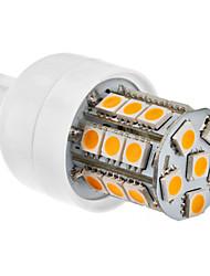 Ampoule LED Epi de Maïs (230V), Blanc Chaud, G9 27x5050 SMD 3.5W 300LM 2800-3200K