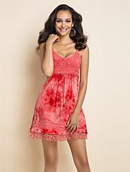 TS печати ремень платье