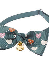 Cat / Dog Collar Bow Tie / With Bell Red / Green / Pink Nylon