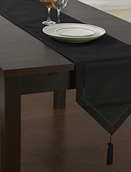 Classic Black Table Runners