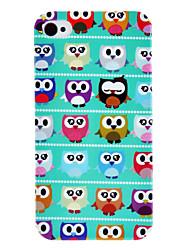 Happy Owls Pattern IMD Technologie Hard Case für iPhone 4/4S