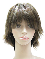 Capless Synthetic Fiber Mixed Color Short Straight Hair Wig