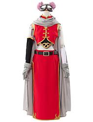 Inspiriert von Gintama Kagura Anime Cosplay Kostüme Cosplay Kostüme Patchwork Rot ÄrmellosUmhang / Weste / Rock / Kurze Hosen / Ärmel /