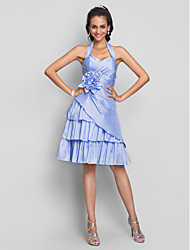 Cocktail Party / Homecoming / Prom / Sweet 16 Dress - Lavender Plus Sizes / Petite A-line Halter / Sweetheart Knee-length Taffeta