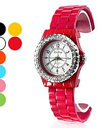 Women's Fashion Watch Wrist watch Quartz Band Black White Blue Orange Green Pink Yellow Rose Brand